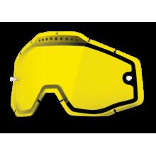 Линза 100% Racecraft/Accuri/Strata Vented Dual Pane Lens Anti-Fog Gold Mirror