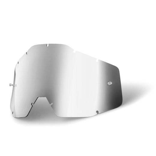 Линза 100% Racecraft/Accuri/Strata Anti-Fog Silver Mirror