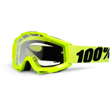 Очки 100% Accuri Fluo Yellow / Clear Lens