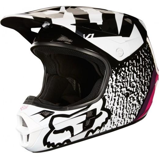 Шлем Fox V1 Halyn Helmet Black/Pink