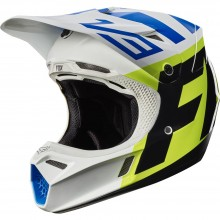 Мотошлем Fox V3 Creo Helmet White/Yellow